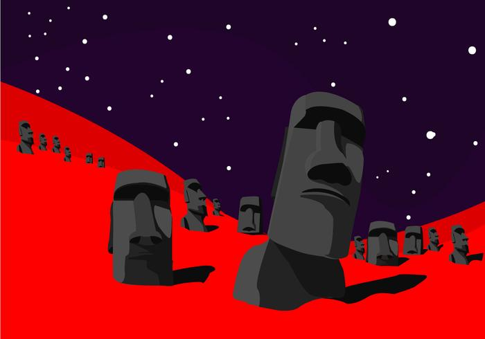 Easter Island Vector Art