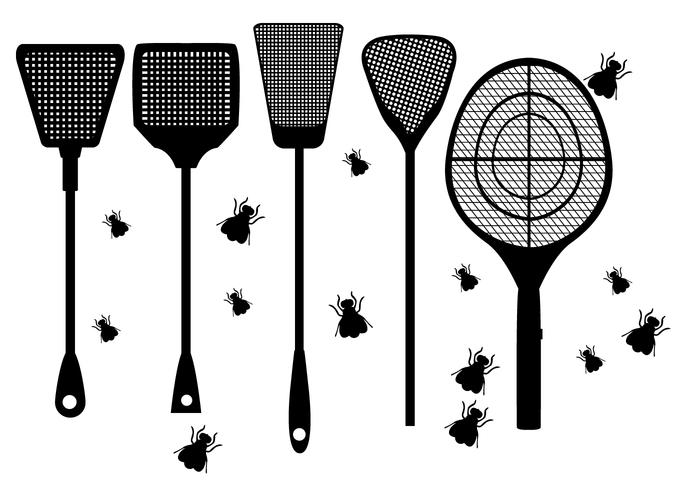 Fly Swatter Shape Vectors