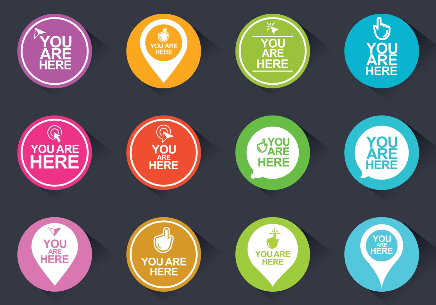 Ubicación Posición Icono Gráficos Vectoriales Gratis: Usted Está Aquí Iconos Del Vector