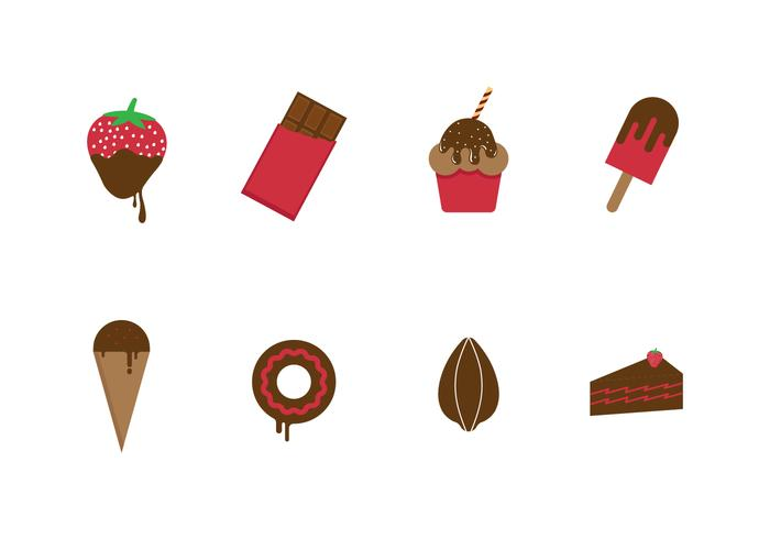 Free Chocolate and Sweets Vector Icons