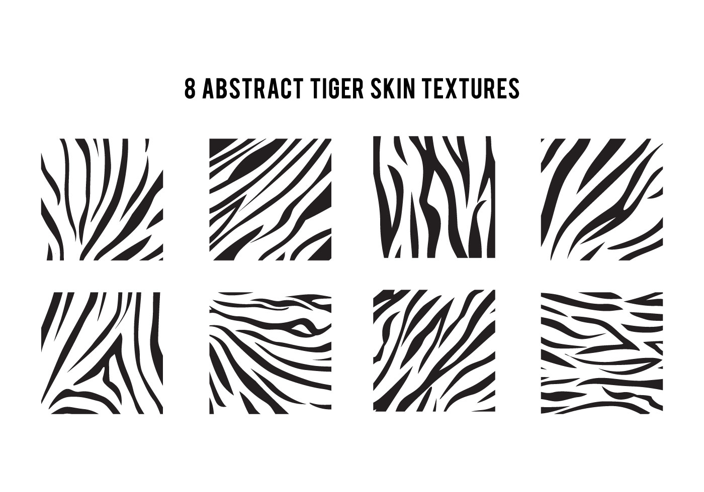 Simple Tiger Stripe Pattern Download Free Vector Art