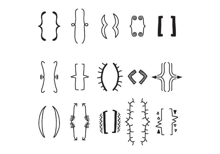 Reihe von dekorativen Brackets