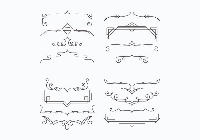 Soportes para la decoración de vectores