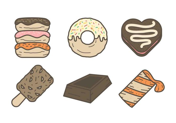 Free Mouthwatering Chocolate Dessert Vectors