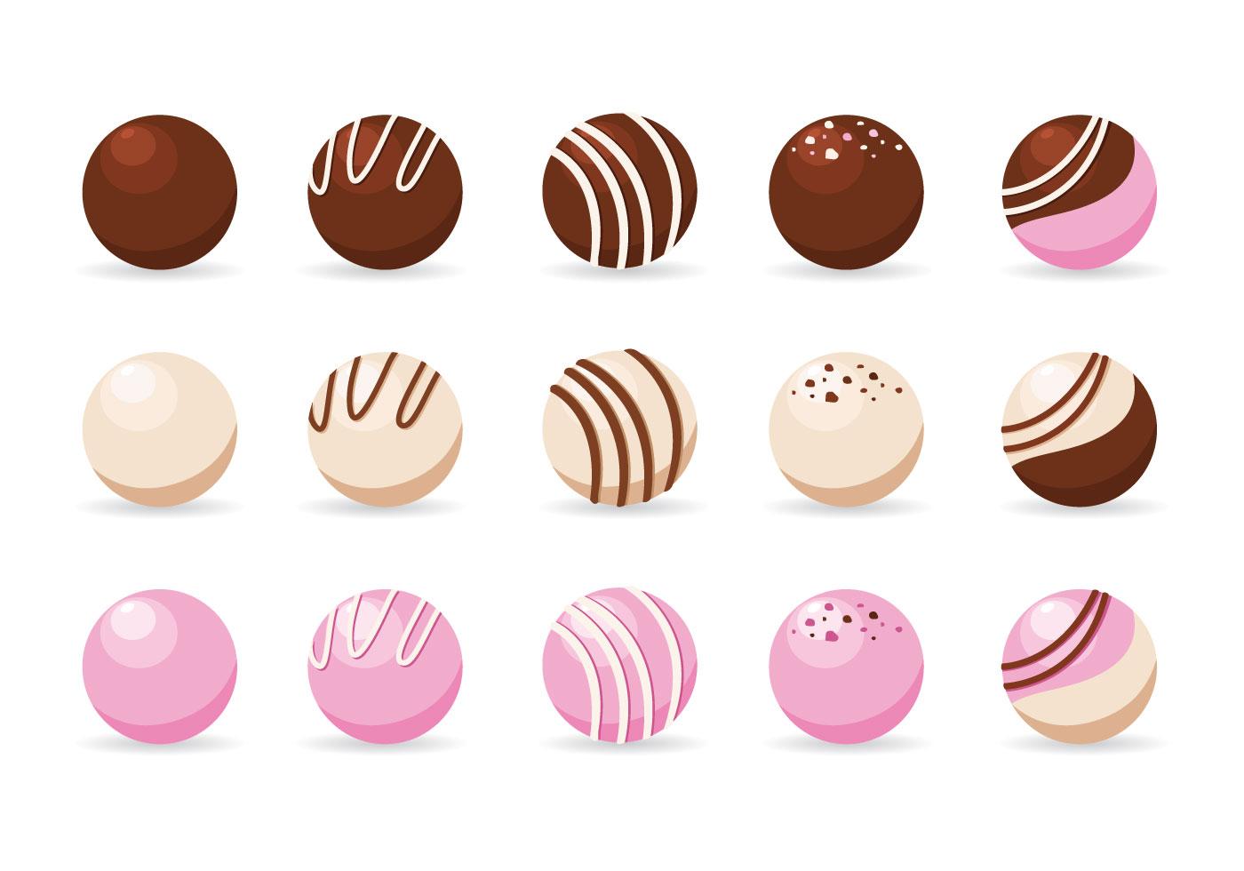 Chocolate Truffles Vector Download Free Vector Art