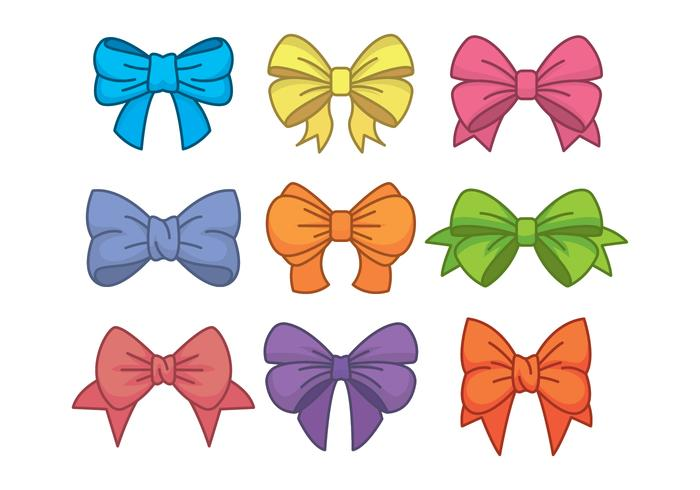 Hair Ribbon Icons Set