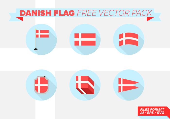Bandera danesa Paquete de vectores libres