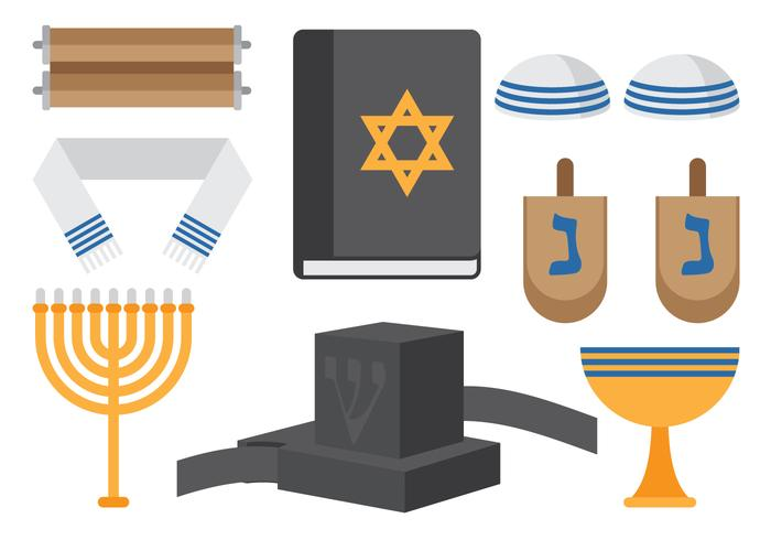 Judiska religiösa ikoner vektor