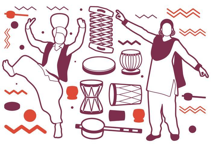 icone di prestazioni di ballerini punjabi