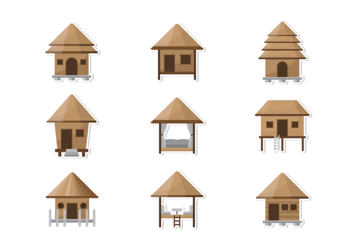 Cabana Icons Vector