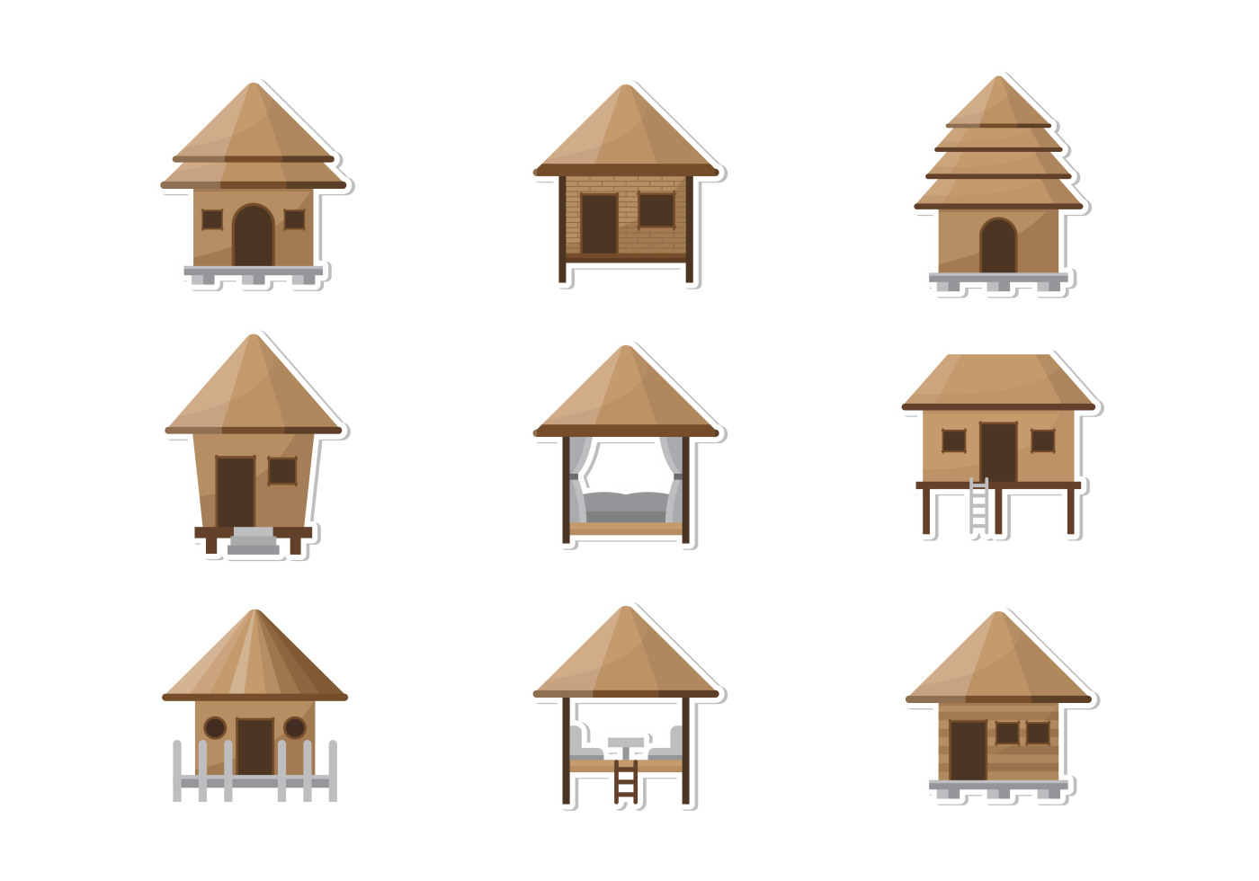 Cabana Icons Vector Download Free Vector Art Stock Graphics &