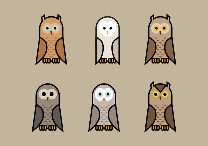 Brown Vector Owls