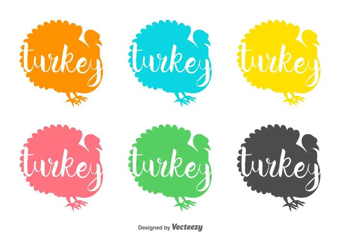 Wild Turkije Vector Badges