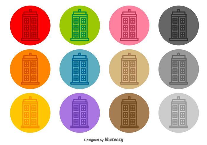 Tardis Vector Line Icons
