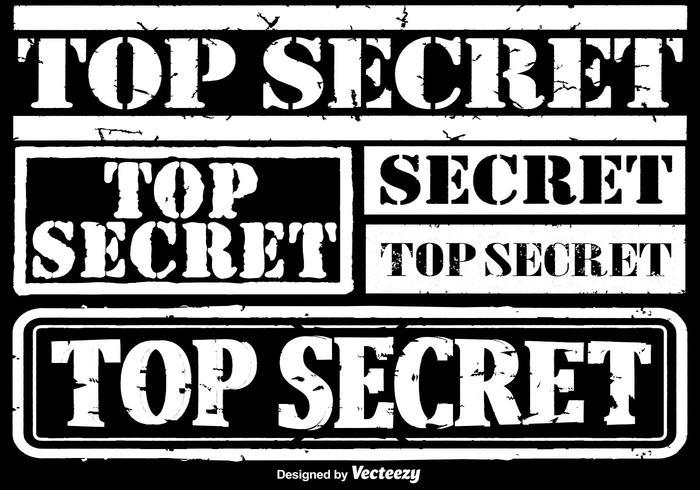 Vector Top Secret Stamps Set