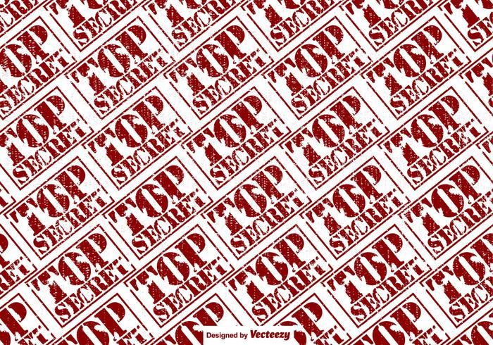 Vector Top Secret Stamp Seamless Pattern