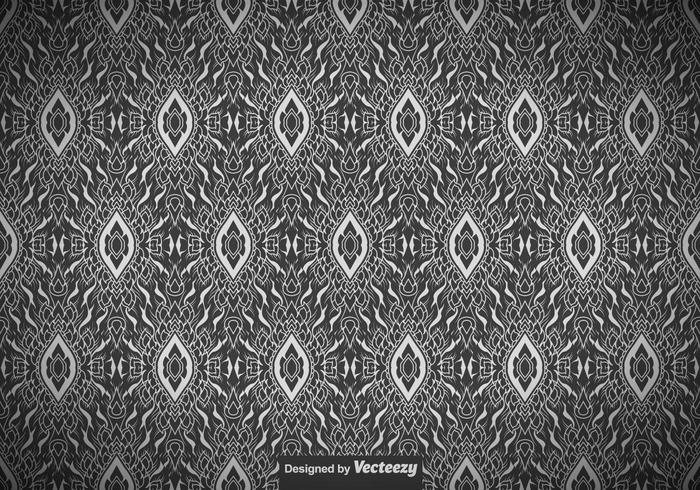 Abstract Seamless Thai Pattern - Vector
