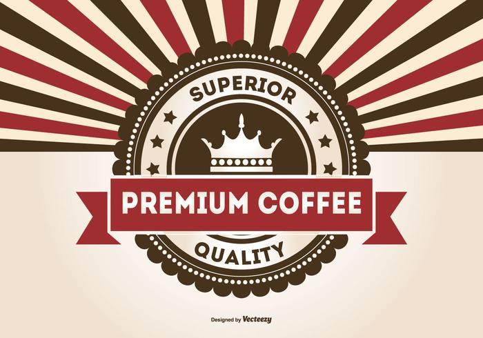 Retro Promotional Premium Coffee Illustration