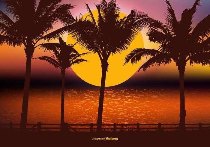 Beautiful Tropical Landscape Scene  vector