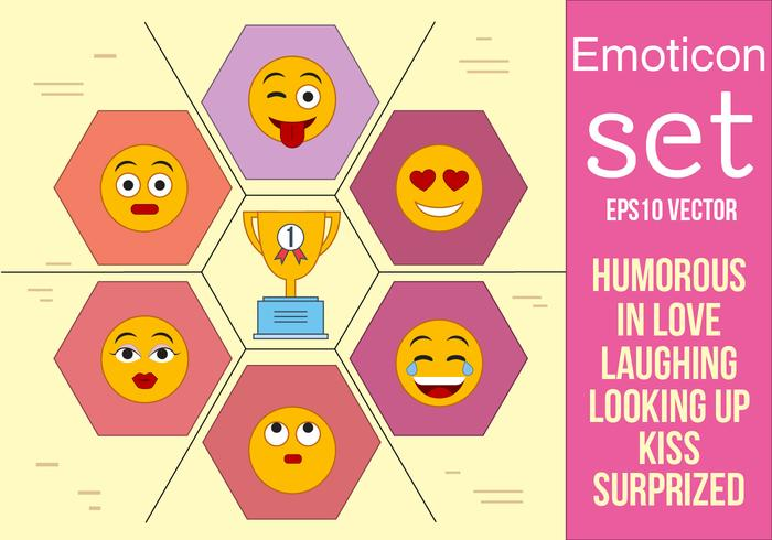 Gratis Set Vector Emoticons