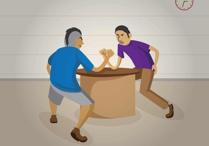 Free Arm Wrestling Illustration