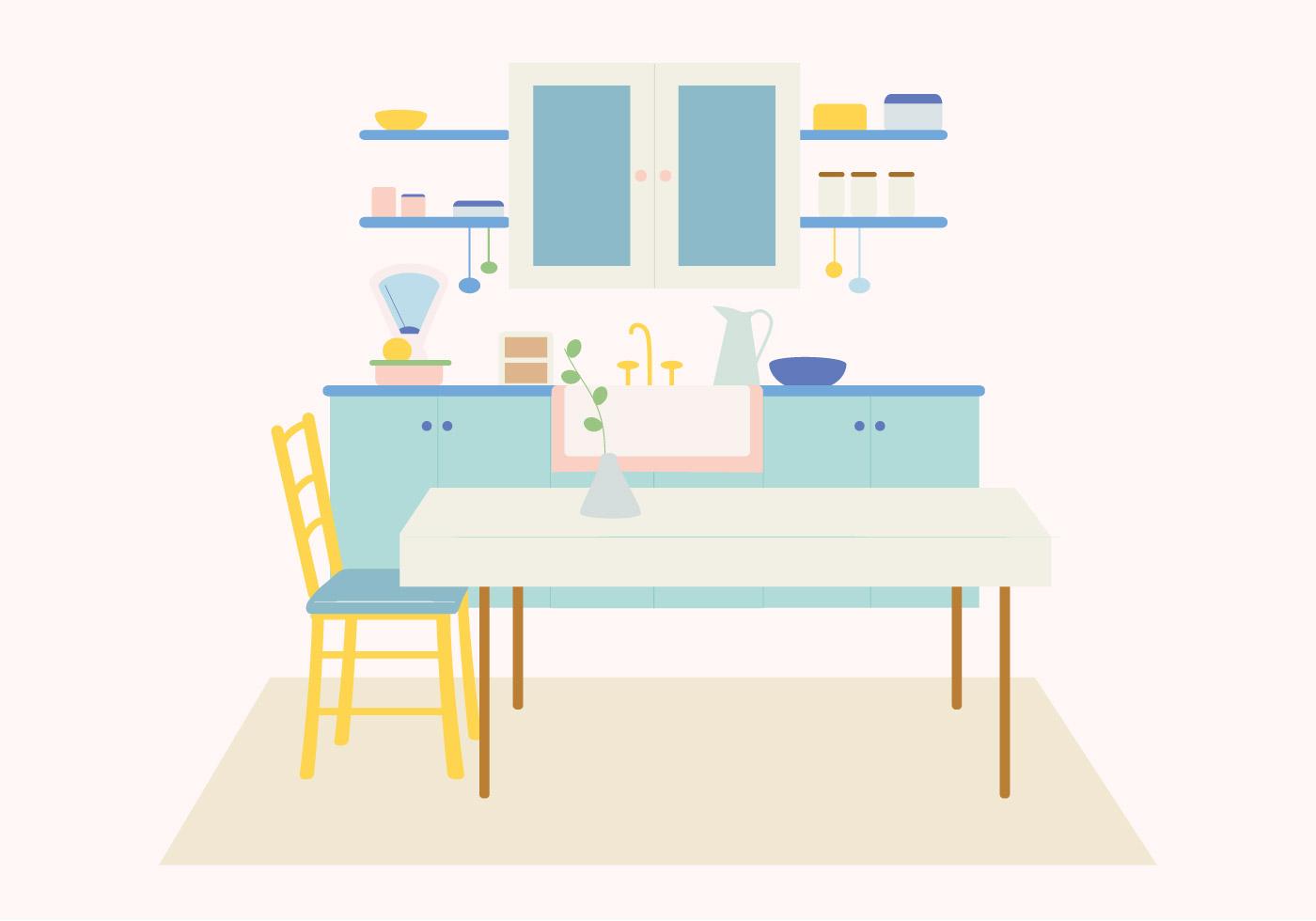 Vector Kitchen Illustration Download Free Vectors