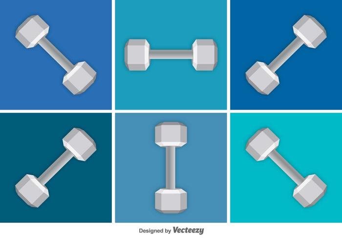 Dumbbell Vector Icons