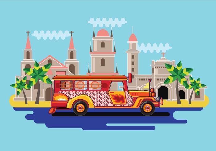 Free Vector Filipino Jeepney