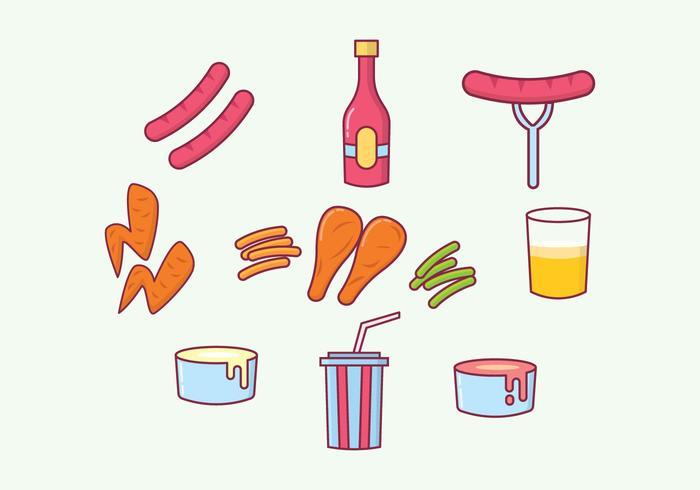 Livres rápidos vetores Foods