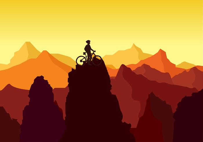 Bike Trail Peak Rock Free Vector