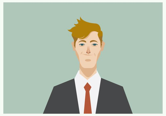 Headshot of Smiling Young Businessman Vector