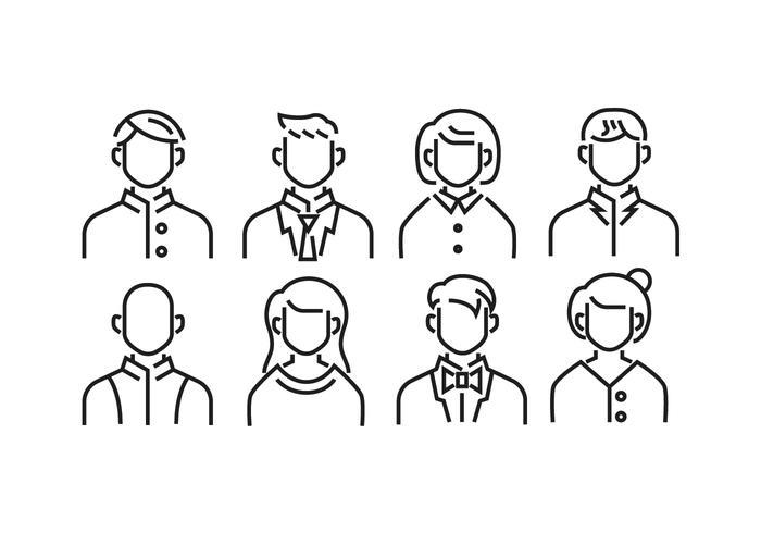 icone predefinite headshot avatar vettore