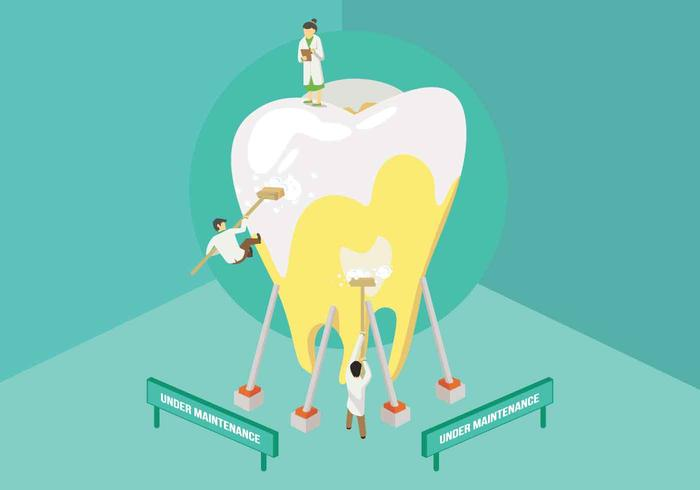 Free Dentist Cleaning Tooth Illustration