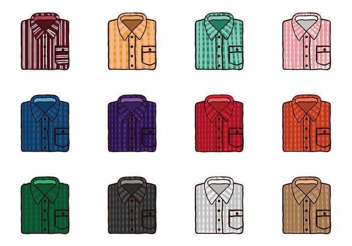 Gevouwen Flanellen shirt vectoren