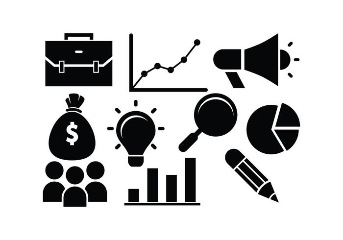 Free Business Icon Silhouette Vectors