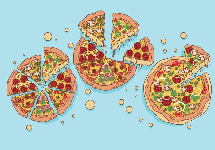Los vectores de pizza