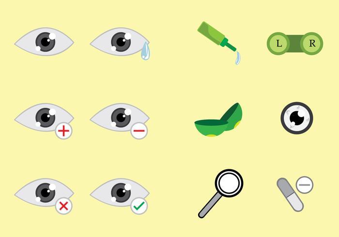 Optometry Icons Vectors
