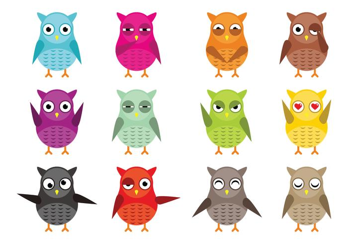 Owl Vector Character Vector Pack