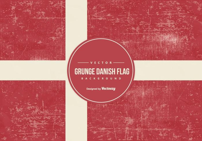 Bandera de Dinamarca del estilo del Gr vector