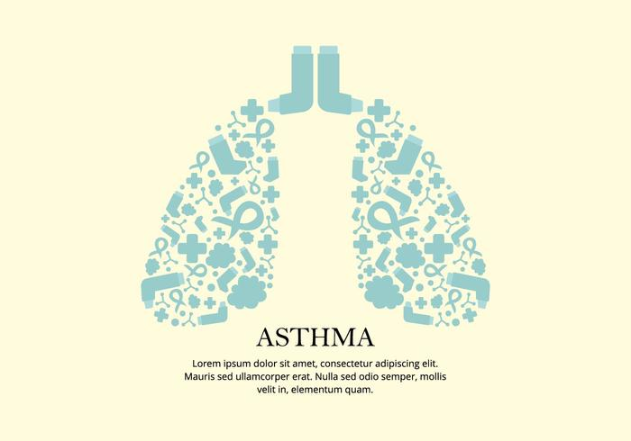 Asthma Remedy Vector Background
