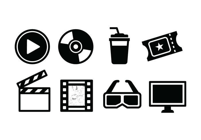 Ensemble d'icônes de film gratuit
