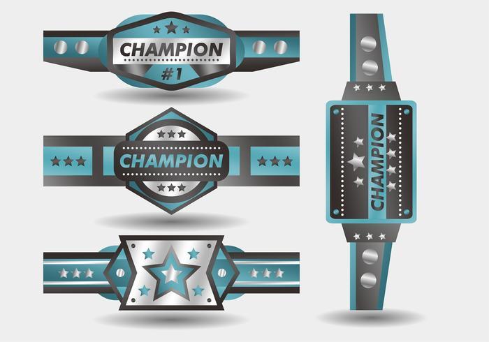 Championnat Bleu Ceinture Vector Design