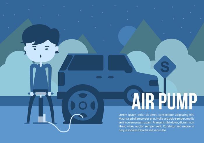 Bildäck luftpump Bakgrund