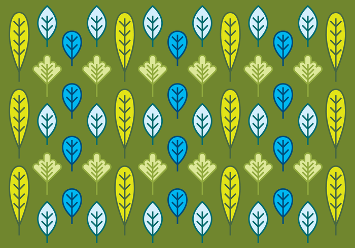 Simple Bright Leaf Background Vector
