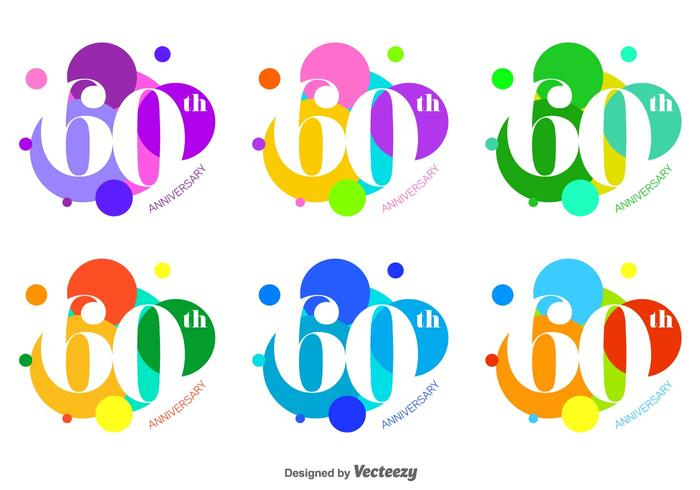 Bright and Bubble 60th Vector Badges
