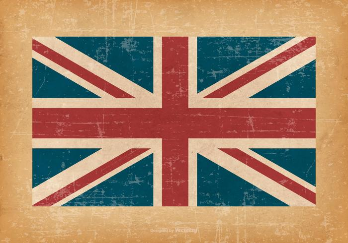 Britische Flagge auf Grunge Hintergrund