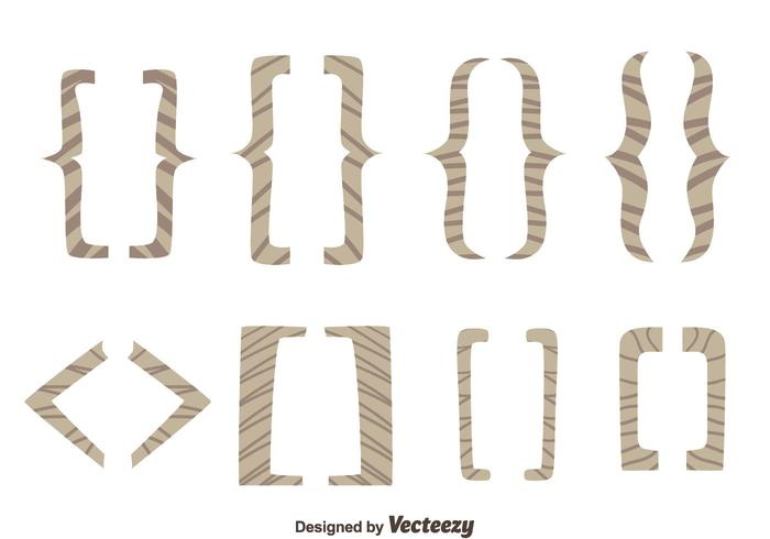 Hand Drawn Bracket Vectors