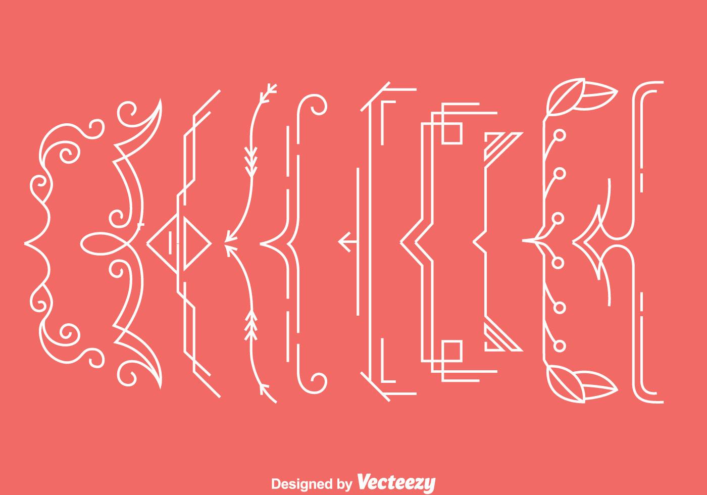 Ornament Bracket Vectors - Download Free Vectors, Clipart ...