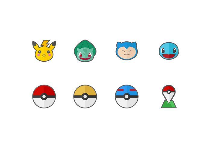 Free Pokemon Vector Icons