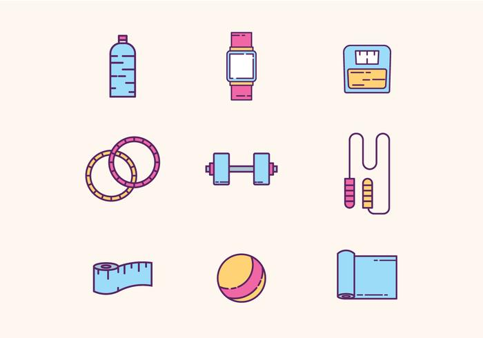 Gym & Fitness Equipment vector